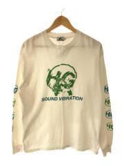 長袖Tシャツ/M/コットン/WHT/HG SOUND VIBRATION/スリーブロゴ