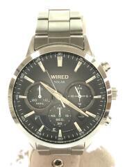 ソーラー腕時計/アナログ/グレー/シルバー/VR42-K2CO/セカスト/中古/古着