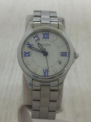 クォーツ腕時計/アナログ/ステンレス/WHT/SLV/VJ22-KH70/セイコー