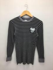 サーマルロンT/36/コットン/GRY/ボーダーロンT/カットソー/69/プリント/長袖Tシャツ