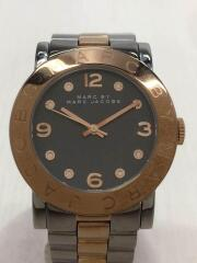 クォーツ腕時計/アナログ/ステンレス/GRY/SLV/MBM8597