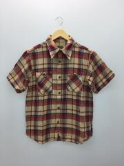 半袖シャツ/L/コットン/マルチカラー/チェックシャツ/25014/ワークシャツ
