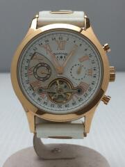 自動巻腕時計/アナログ/ラバー/WHT/H016/HAORI/ハオリ