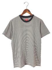 Micro Stripe Tee/S/コットン/BLK/バックロゴボーダーTシャツ/17SS