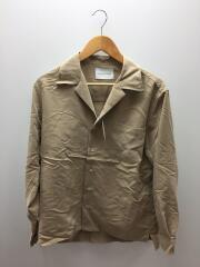 パウダーポプリンオープンカラーシャツ/M/レーヨンシャツ/BEG/GMG-0814-A/開襟シャツ