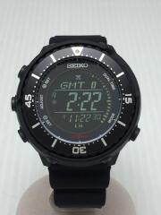 ソーラー腕時計/デジタル/ラバー/ブラック/S802-00L0/Prospex Fieldmaster