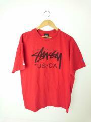 Tシャツ/L/コットン/RED/RN94974 CA28629