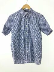 uniform experiment/半袖シャツ/2/コットン/BLU/ギンガムCK