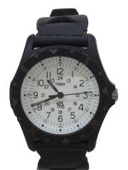 ×TIMEX/クォーツ腕時計/アナログ/レザー