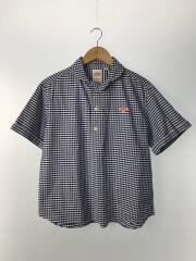 半袖シャツ/38/コットン/BLU/チェック