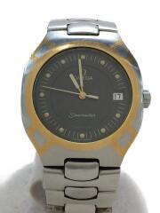 シーマスターポラリス/クォーツ腕時計/1455/448/アナログ/SLV/※ヨゴレ、小傷有////SEAMASTER POLARIS///54245012