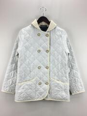 ショールカラーキルティングジャケット/34/ポリエステル/ホワイト