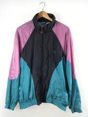 90s/ナイロンジャケット/7/ナイロン/ブラック×ピンク×グリーン