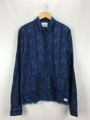 カットオフインディゴシャツジャケット/L/コットン/IDG