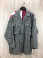 90s/星条旗/ミリタリーシャツジャケット/L/使用感有/背タグ欠損
