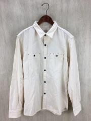 生成りワークシャツ/42/コットン/BEG