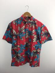 70s/ヌードタグ/アロハシャツ/L/コットン/RED/プルオーバー