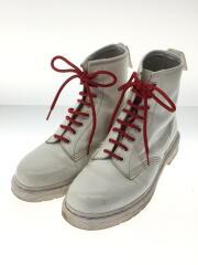 8HOLE ブーツ/UK8/ホワイト/使用感有