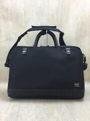 2wayブリーフケース/ナイロン/ブラック/ビジネスバッグ