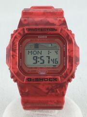 クォーツ腕時計・G-SHOCK/デジタル/ラバー/RED/RED/GLX-5600F-4JF/小傷有