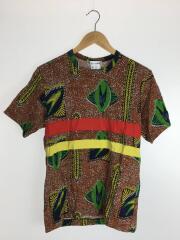 Tシャツ/M/コットン/CML/総柄/S10235