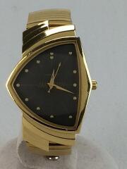 クォーツ腕時計/アナログ/BLK/GLD/6250A