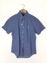 半袖シャツ/S/コットン/BLU/ギンガムCK/710591730001