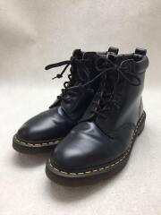 15AW/6-EYE BOOT/レースアップブーツ/UK8/BLK/レザー/6ホールブーツ