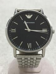 クォーツ腕時計/アナログ/BLK/SLV/AR-11152