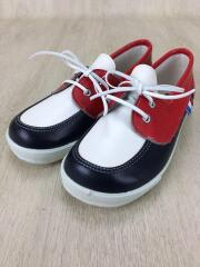キッズ靴/19cm/革靴/フェイクレザー/RED