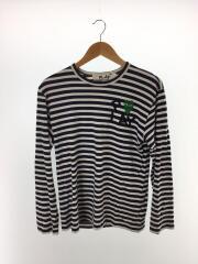 長袖Tシャツ/--/コットン/AZ-T056/ボーダー/ロゴ/2006