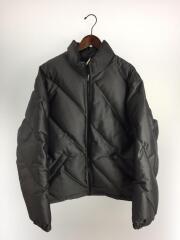 Iridescent Puffy Jacket/ダウンジャケット/L/ポリエステル/グレー