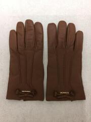 手袋/レザー/ブラウン