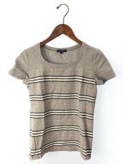 Tシャツ/1/コットン/グレー/ボーダー/FAD52-318-06