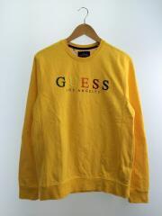 レインボーロゴスウェットシャツ/M/コットン/イエロー黄色/M92Q17
