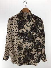 シャツブラウス/Crazy Dalmatian Shirt/長袖シャツ/ポリエステル/マルチカラー/