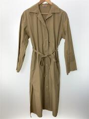 SLEVEDGE CLOTH LONGSHIRTS DRESS/襟汚れ/シャツワンピース/1/コットン/BEG