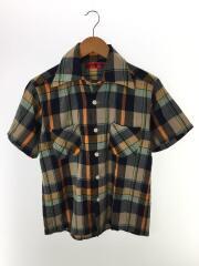 オープンカラー半袖シャツ/38/コットン/マルチカラー/チェック