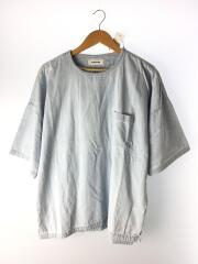 DENIM DOLMAN PO SHIRT/カットソー/M/コットン/BLU