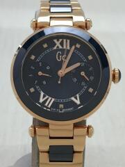 腕時計/アナログ/ステンレス/NVY/GLD/Y06009L7