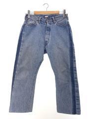 18AW/Baggy Cut Straight Denim Pants/ボトム/32/デニム/IDG