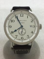 ネイビーパイオニア/箱有/自動巻腕時計/レザー/WHT/BRW/H784650