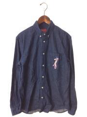 14ss/Pink Panther Denim Shirt/長袖シャツ/M/コットン/IDG
