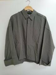 20SS/タグ付/ショートワイドスリーブシャツ/長袖/M/グレー