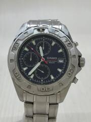 クォーツ腕時計/クロノグラフ/アナログ/ステンレス/シルバー/MTD-1032/箱有り