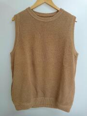 moss stitch vest/ニットベスト/1804-007/0/コットン/ベージュ