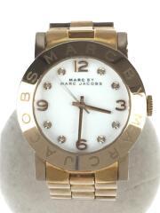 エイミー/クォーツ腕時計/アナログ/ステンレス/ホワイト/ゴールド/MBM3077