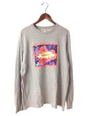 17FW/Bloom Long Sleeve Tee/長袖Tシャツ/L/コットン/グレー/無地