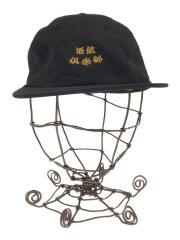 CLUB SAKENOMITAI/キャップ/ポリエステル/ブラック