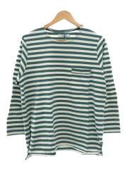 タグ付き/ロンT/長袖Tシャツ/1/コットン/グリーン/ボーダー/06-6226-8125